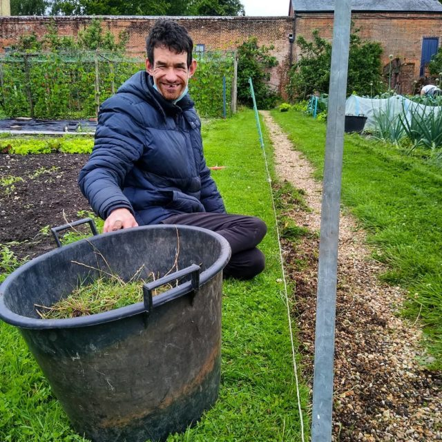 """Here's a post from the veg garden. Ed wanted to edge and tidy pathway today, he said """"I wanted it to look good for when people come down"""". You're doing an excellent job Ed!"""