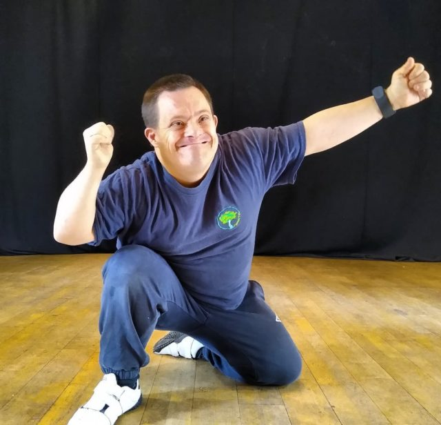 """Here's Phil in his Tablou for drama. Phil and the Monday drama group are working on a performance which will take place at @hangerfarmarts on the 13th December. Phil said """"I love drama and connecting with people"""""""