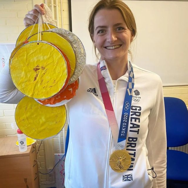 I visited @minstead_trust and left with a whole host more medals…the glitter will be with me for life 😜 . Thank you so much for having me it was wonderful meeting everyone and answering your questions! Reposted from @mcintyreeilidh  So good to welcome you Eilidh!