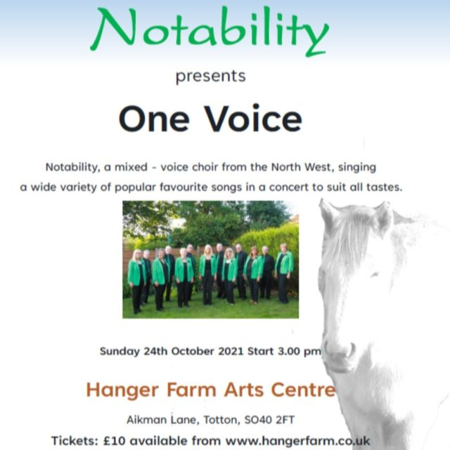Thank you to Notability who are generously putting on a concert in support of Minstead Trust at Hanger Farm Arts Centre on 24 October.  Every ticket sold goes towards helping support people with learning disabilities, so book your tickets now for this feel-good show!   http://ow.ly/IZ6E50Gq67Q