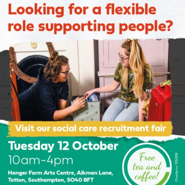 Are you looking for a new role helping to support others, change lives and make a difference?  Come along to our recruitment fair tomorrow to find out more.  #RecruitmentFair #RecruitmentFairSouthampton #RecruitmentFairTotton #NewJob #NewOpportunity #FindOutMore #SupportingOthers #SocialCare #SocialCareJobs