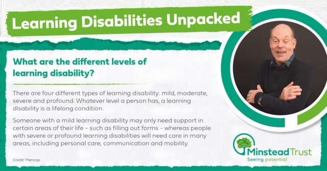 It's our weekly unpacking time again...   People with learning disabilities are all different and wonderful in their own ways. This includes their level of disability, but more importantly their interests, hobbies and passions that make them a unique individual.